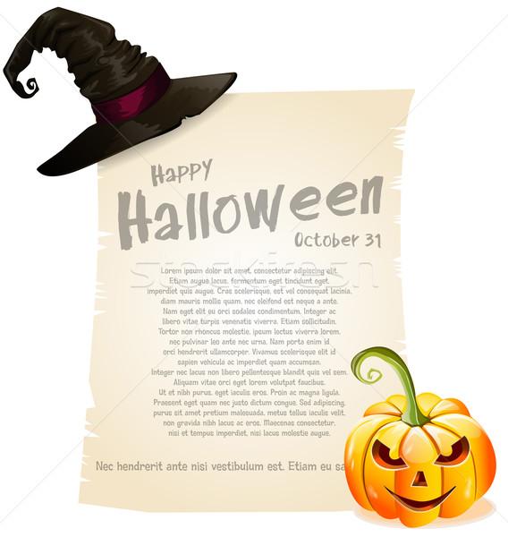 Halloween preto desenho cartaz horror celebração Foto stock © lindwa