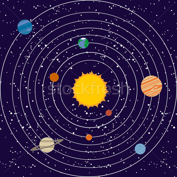 Vecotr solar system illustration Stock photo © lindwa