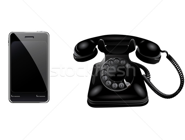 Retro telefone negócio escritório projeto Foto stock © lindwa
