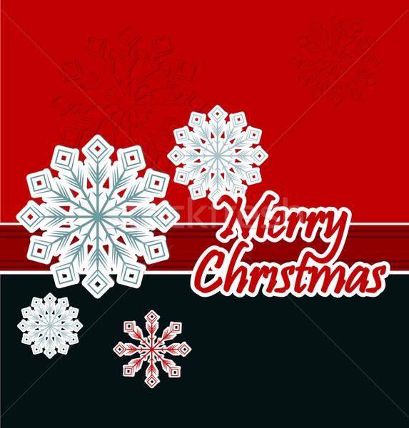 Karácsony hópehely papír absztrakt terv háló Stock fotó © lindwa