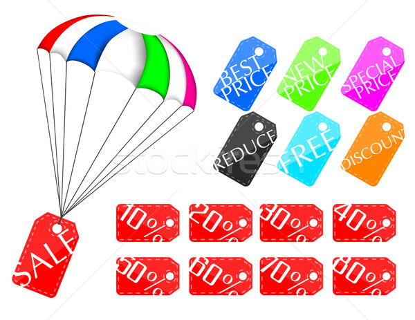 Parachute price tag Stock photo © lindwa