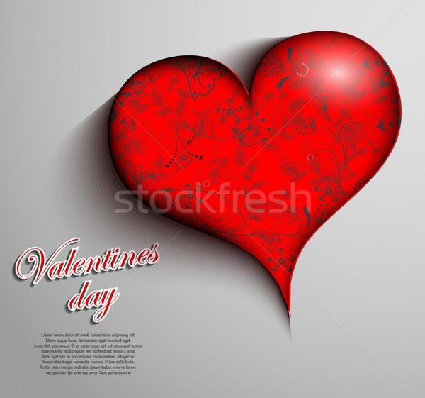 Saint valentin design lettre peinture carte modèle Photo stock © lindwa