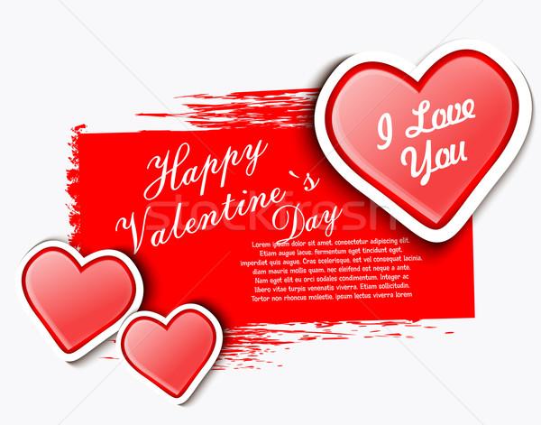 Sevgililer günü dizayn mektup boyama kart model Stok fotoğraf © lindwa