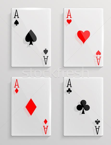 Glass poker cards Stock photo © lindwa
