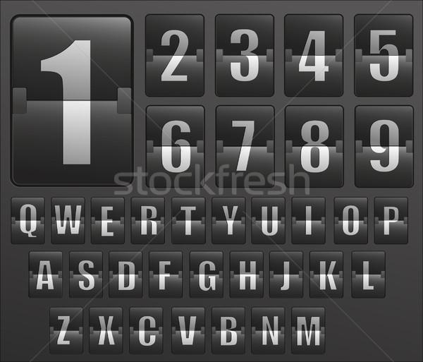Dienstregeling alfabet business textuur klok metaal Stockfoto © lindwa