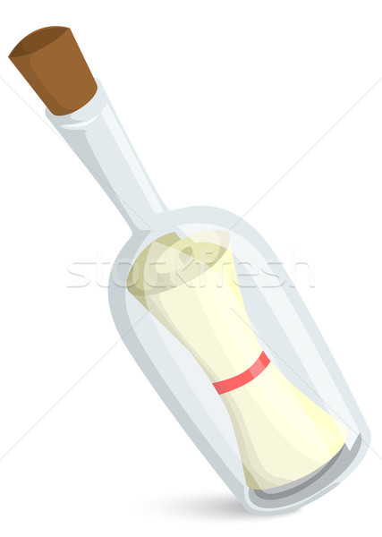 Message in bottle Stock photo © lindwa