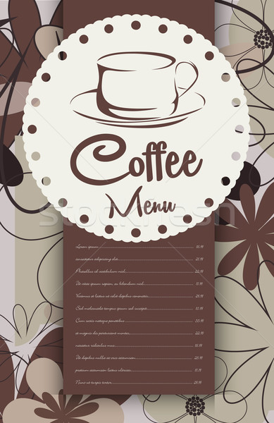 Menu for coffeehouse Stock photo © lindwa