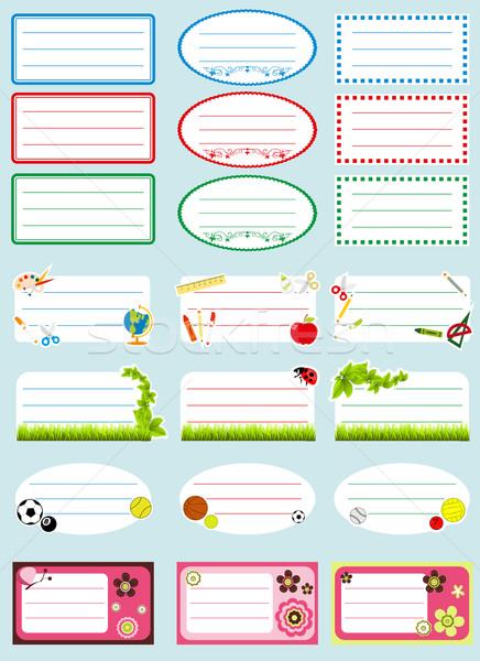 Okul etiketler bilim çalışma renk reklam Stok fotoğraf © lindwa