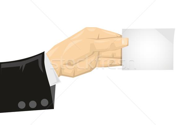 Rajz tart papír kártya üzlet segítség Stock fotó © lindwa