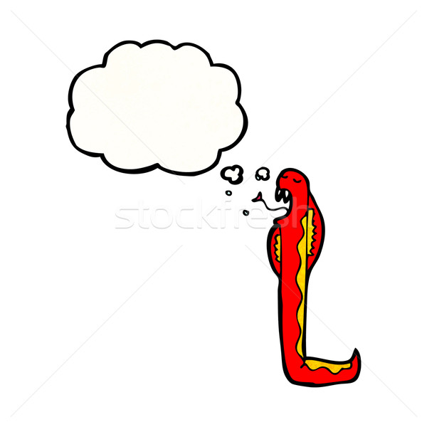 poisonous snake cartoon Stock photo © lineartestpilot