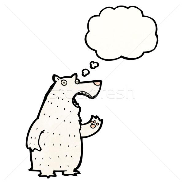 シロクマ 思考バブル 漫画 テクスチャ 手 幸せ ストックフォト © lineartestpilot