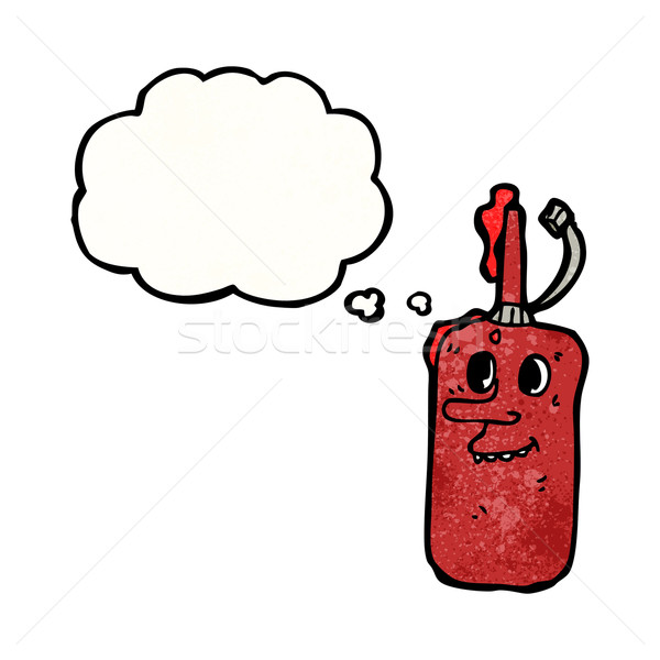 ketchup bottle with thought bubble cartoon Stock photo © lineartestpilot