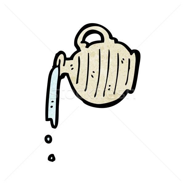 Sürahi karikatür su imzalamak konuşma Stok fotoğraf © lineartestpilot