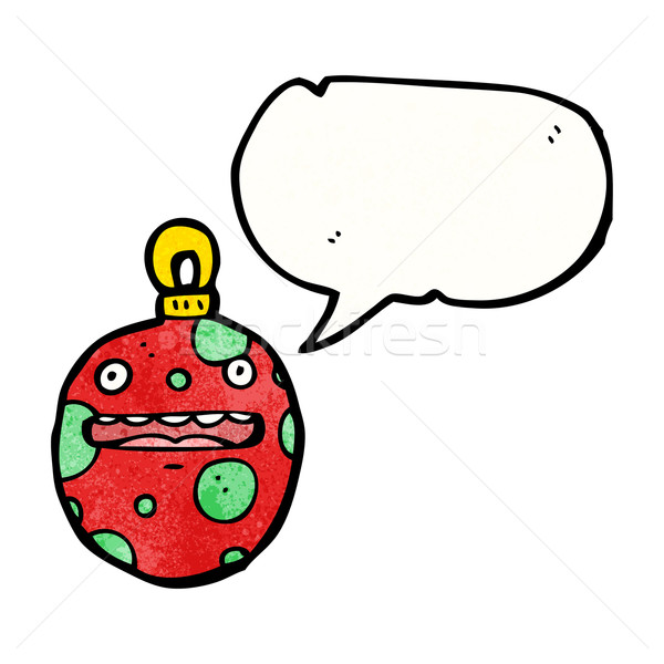 crazy christmas bauble cartoon character Stock photo © lineartestpilot