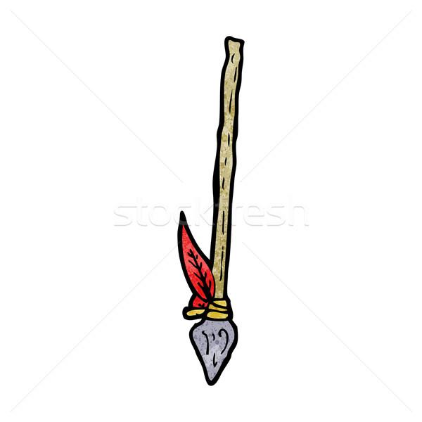 Cartoon lance rétro dessin cute tribales Photo stock © lineartestpilot
