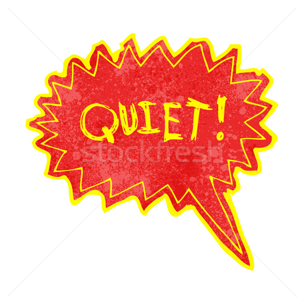 cartoon shout for quiet Stock photo © lineartestpilot