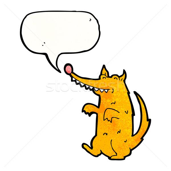 cartoon scruffy dog with speech bubble Stock photo © lineartestpilot
