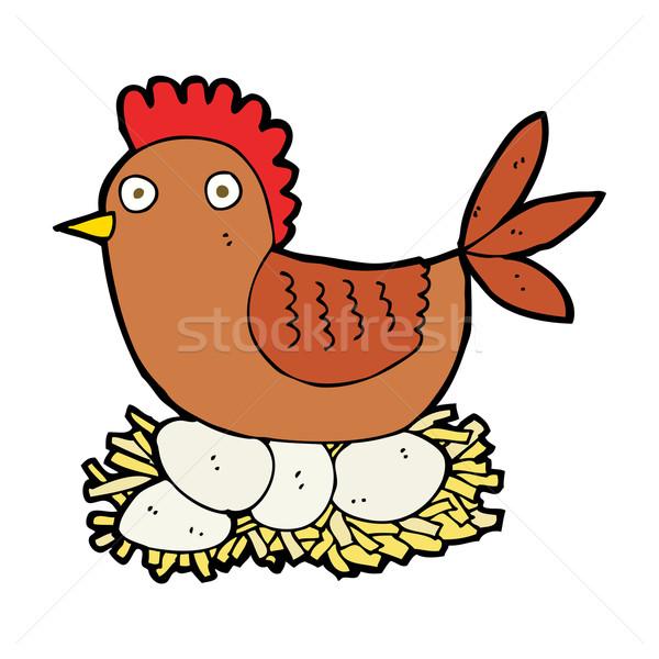 漫画 めんどり 卵 芸術 鶏 ファーム ストックフォト © lineartestpilot