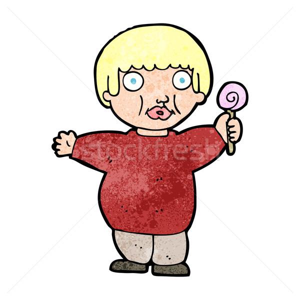 cartoon fat child Stock photo © lineartestpilot
