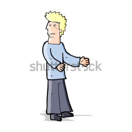 cartoon disgusted man Stock photo © lineartestpilot