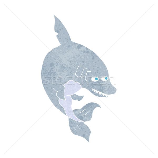 面白い 漫画 サメ デザイン 芸術 レトロな ストックフォト © lineartestpilot