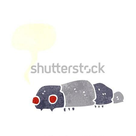Cartoon insecte main design fou bug Photo stock © lineartestpilot