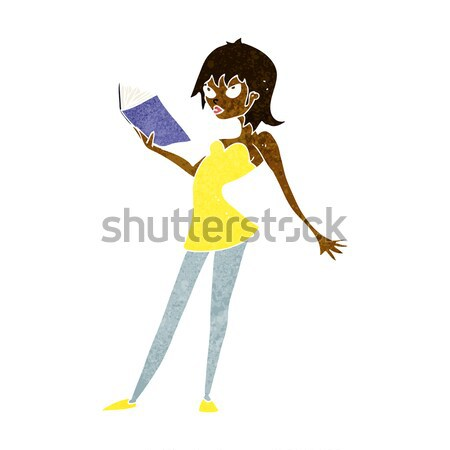 cartoon happy girl kicking out leg Stock photo © lineartestpilot