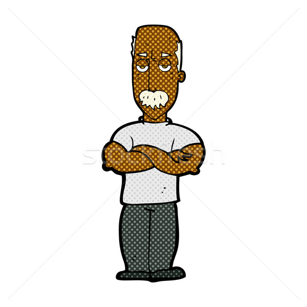 comic cartoon angry man with mustache Stock photo © lineartestpilot