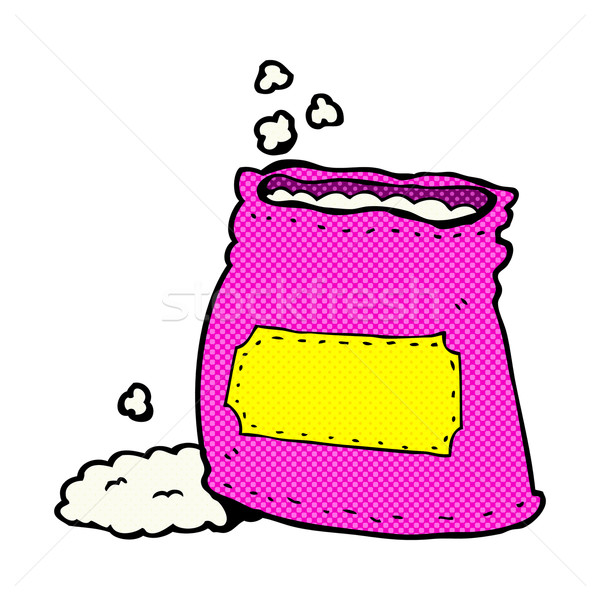 comic cartoon bag of flour Stock photo © lineartestpilot