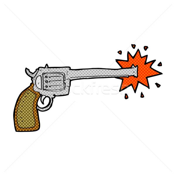 comic cartoon firing gun Stock photo © lineartestpilot