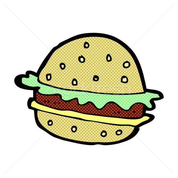 comic cartoon hamburger Stock photo © lineartestpilot