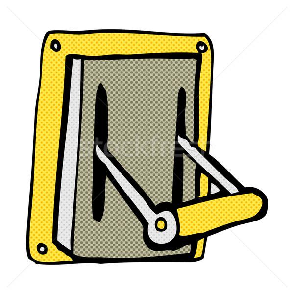 Cómico Cartoon industrial máquina palanca retro Foto stock © lineartestpilot