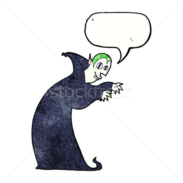 Cartoon vampire bulle main design Photo stock © lineartestpilot