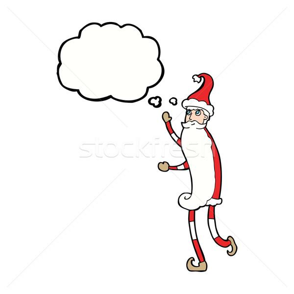Cartoon flaco burbuja de pensamiento mano diseno Foto stock © lineartestpilot