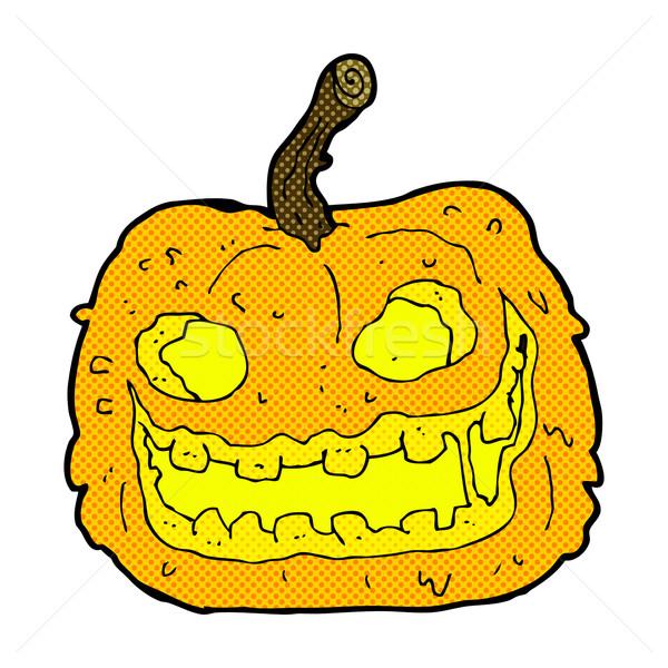 comic cartoon spooky pumpkin Stock photo © lineartestpilot
