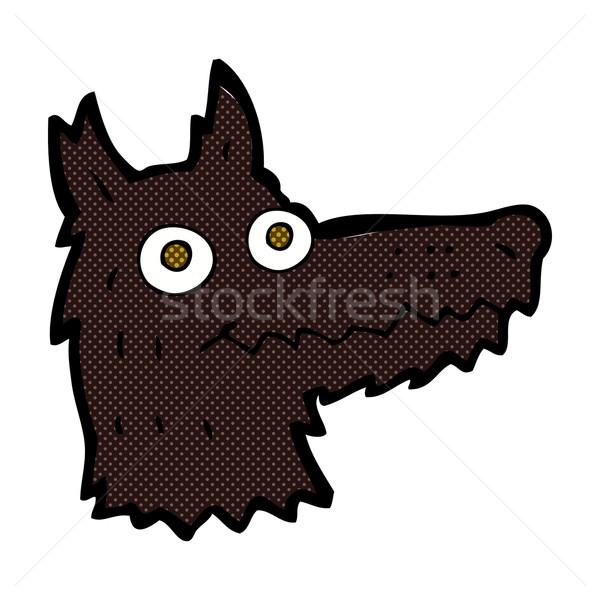 Képregény rajz farkas fej retro képregény Stock fotó © lineartestpilot