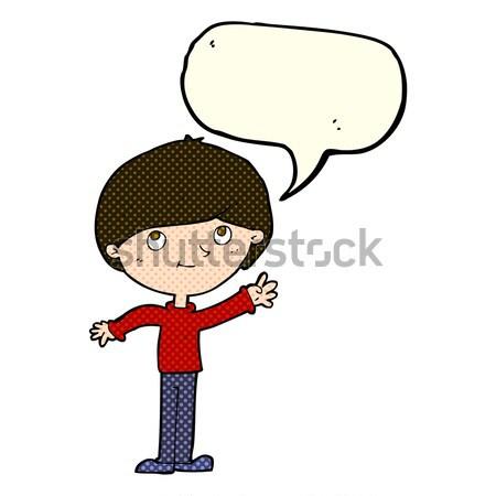 Képregény rajz aggódó férfi retro képregény Stock fotó © lineartestpilot