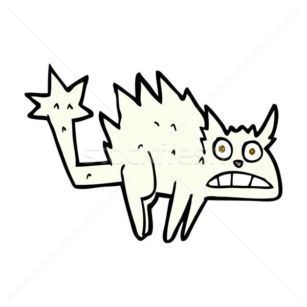 Cómico Cartoon asustado gato retro Foto stock © lineartestpilot