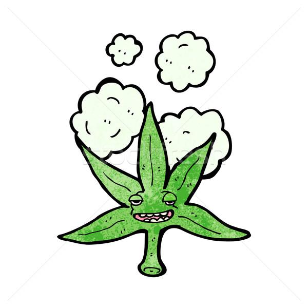 Marihuana hoja cara médicos retro Foto stock © lineartestpilot
