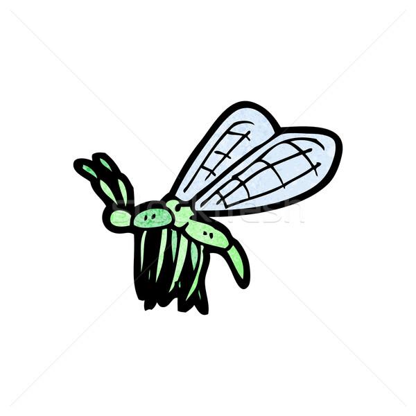 Rajz rovar művészet retro rajz bogár Stock fotó © lineartestpilot