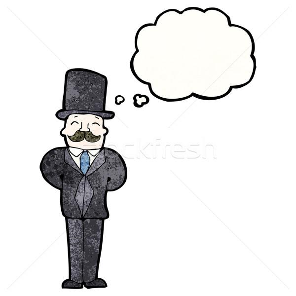 cartoon victorian man Stock photo © lineartestpilot