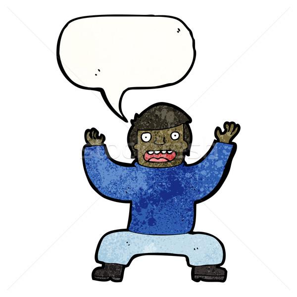 cartoon man squatting Stock photo © lineartestpilot