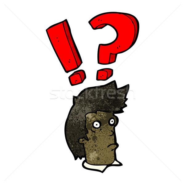 cartoon startled man Stock photo © lineartestpilot