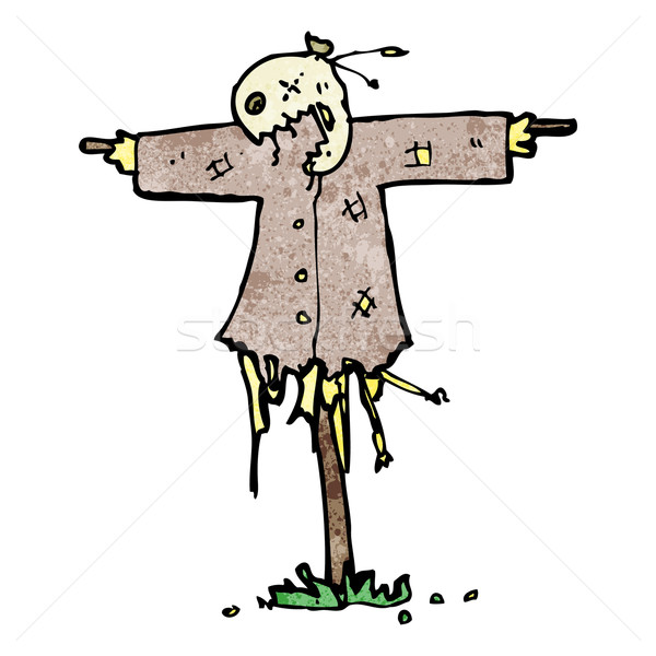 cartoon scary scarecrow Stock photo © lineartestpilot