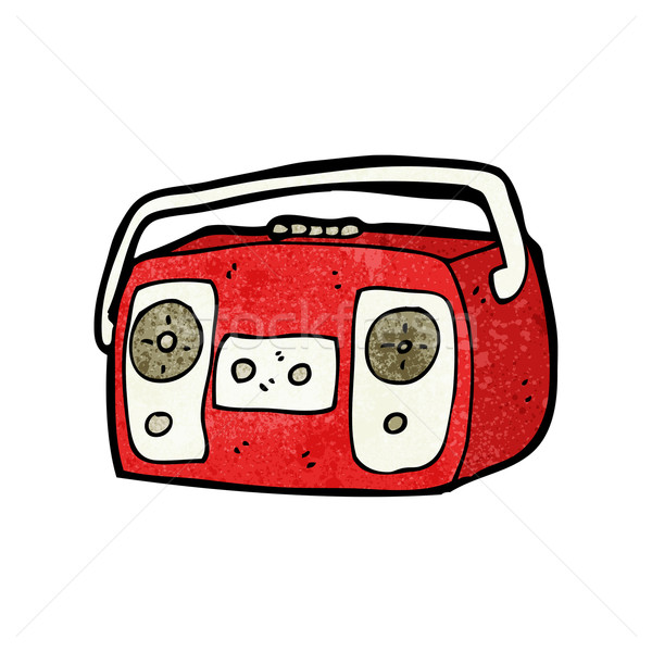 radio cassette player cartoon Stock photo © lineartestpilot