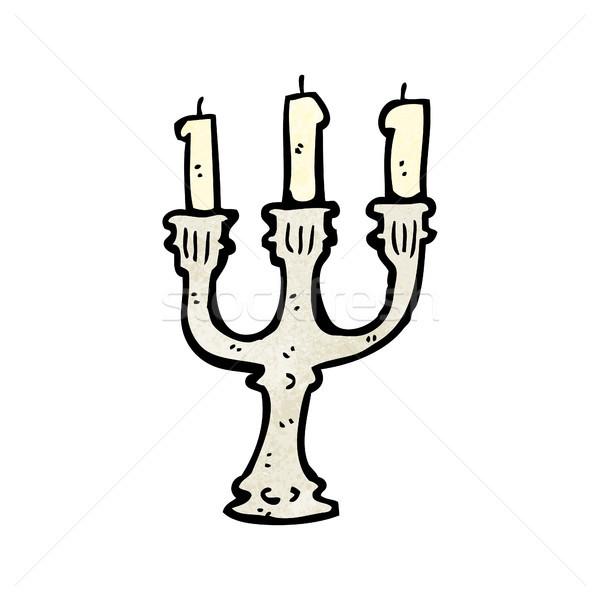 Cartoon candeliere no descrizione arte retro Foto d'archivio © lineartestpilot