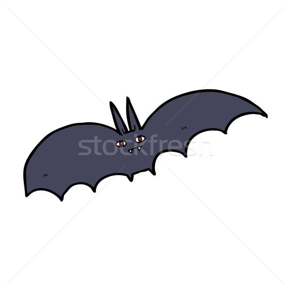Desenho animado vampiro bat mão projeto louco Foto stock © lineartestpilot