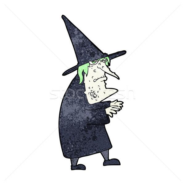 Cartoon уродливые старые ведьмой стороны дизайна Сток-фото © lineartestpilot