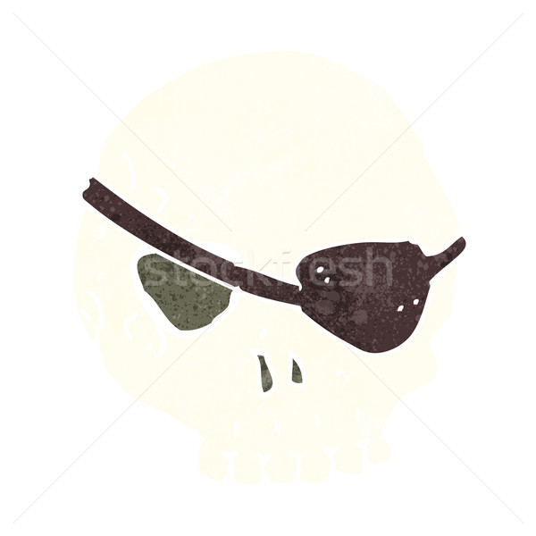 Stock photo: cartoon skull with eye patch