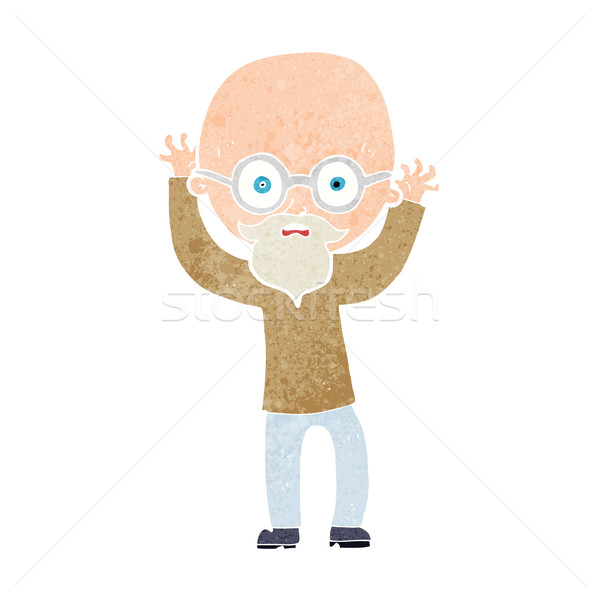 Rajz hangsúlyos kopasz férfi kéz terv Stock fotó © lineartestpilot
